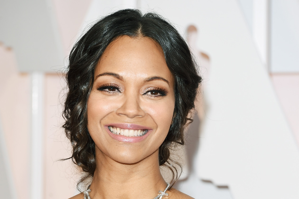Oscar 2015: Zoe Saldana, beauty look incompleto