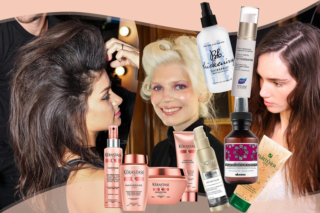 Prodotti per capelli fini e sfibrati: hair care, sieri e spray a effetto filler rimpolpante