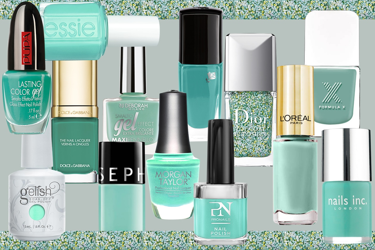 SMALTI VERDE ACQUA: i nuovi colori per le unghie ispirati a Lucite Green di Pantone