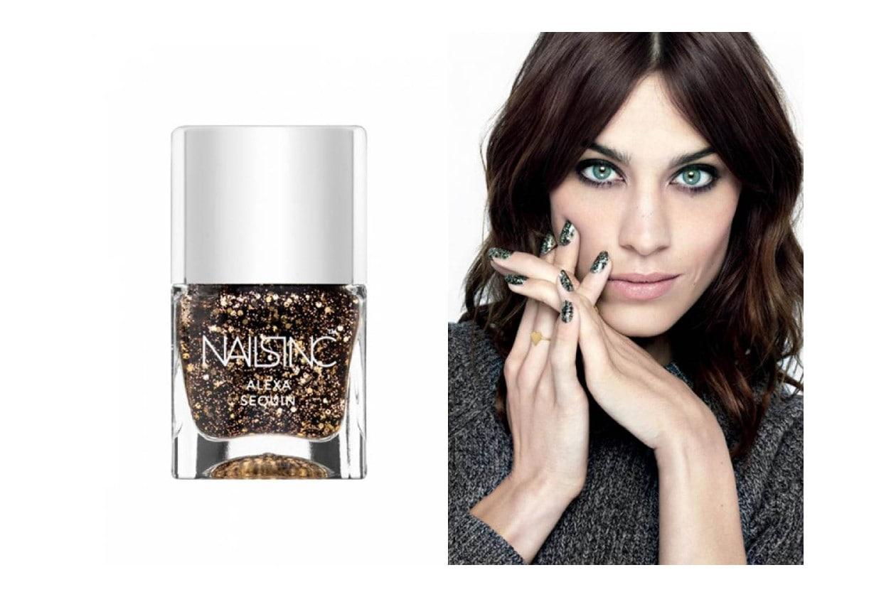 Top coat glitter, flakes e confetti: NAILS INC Alexa Sequins Polish