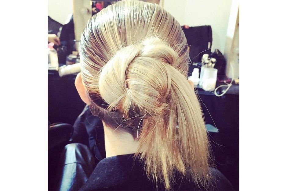 Trend capelli AI 15-16 dalla LFW: knot