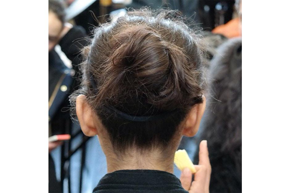 Trend capelli AI 15-16 dalla LFW: messy chignon