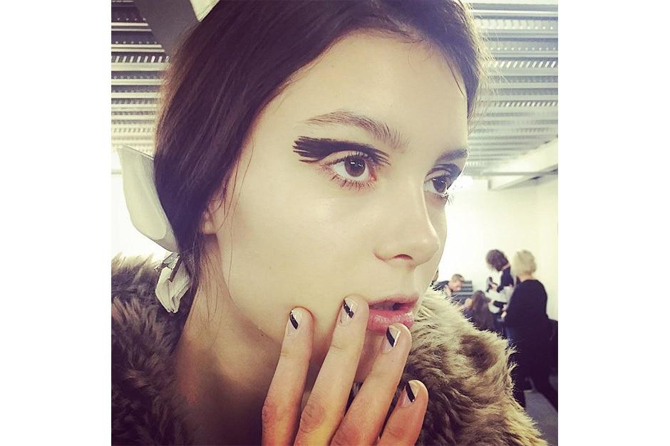 Trend make up AI 15-16 dalla LFW: graphic make up & nails