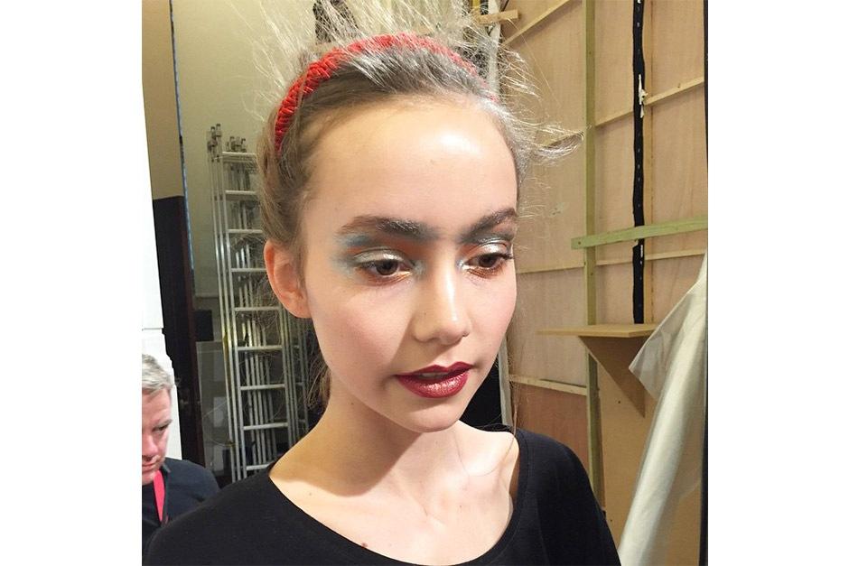 Trend make up AI 15-16 dalla LFW: metallic make up