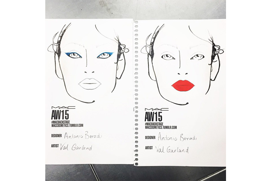 Trend make up AI 15-16 dalla LFW: red lips and blue eyeliner