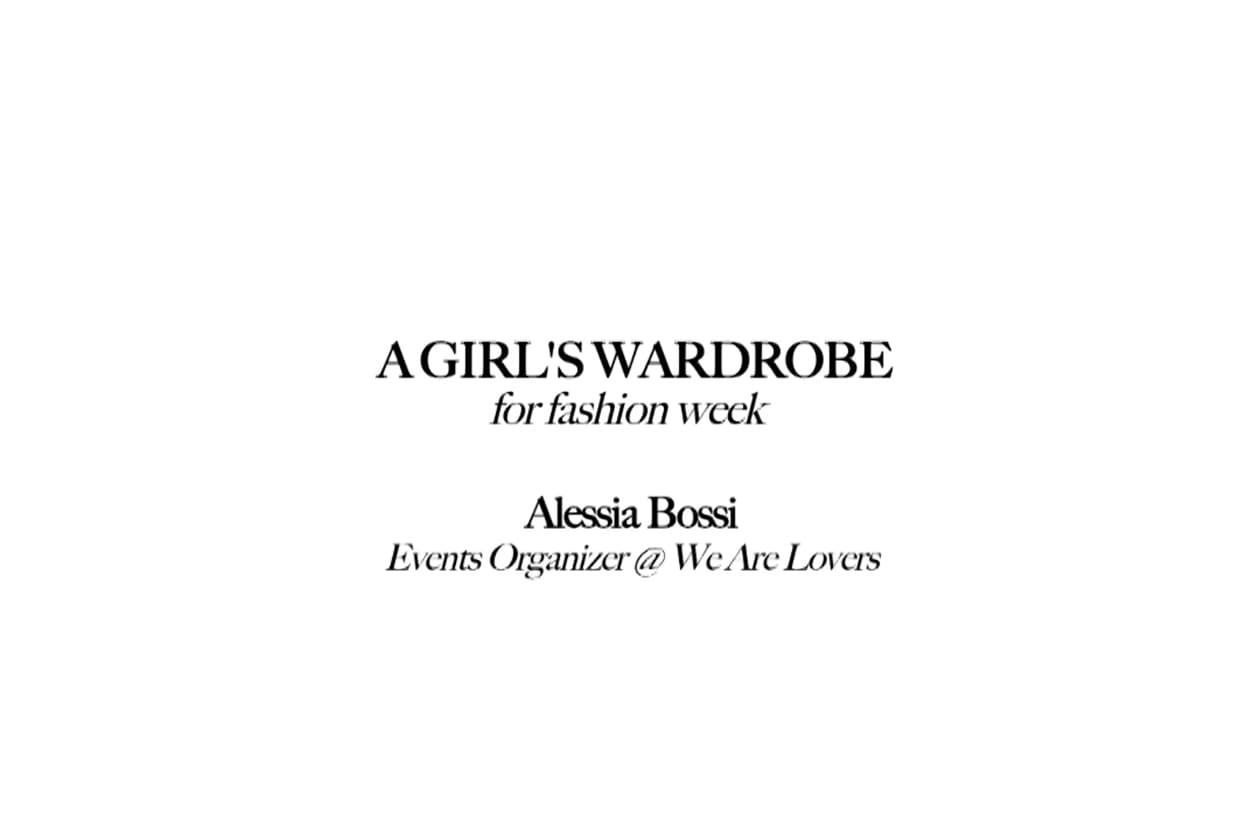 A girl's wardrobe: due chiacchiere con Alessia Bossi