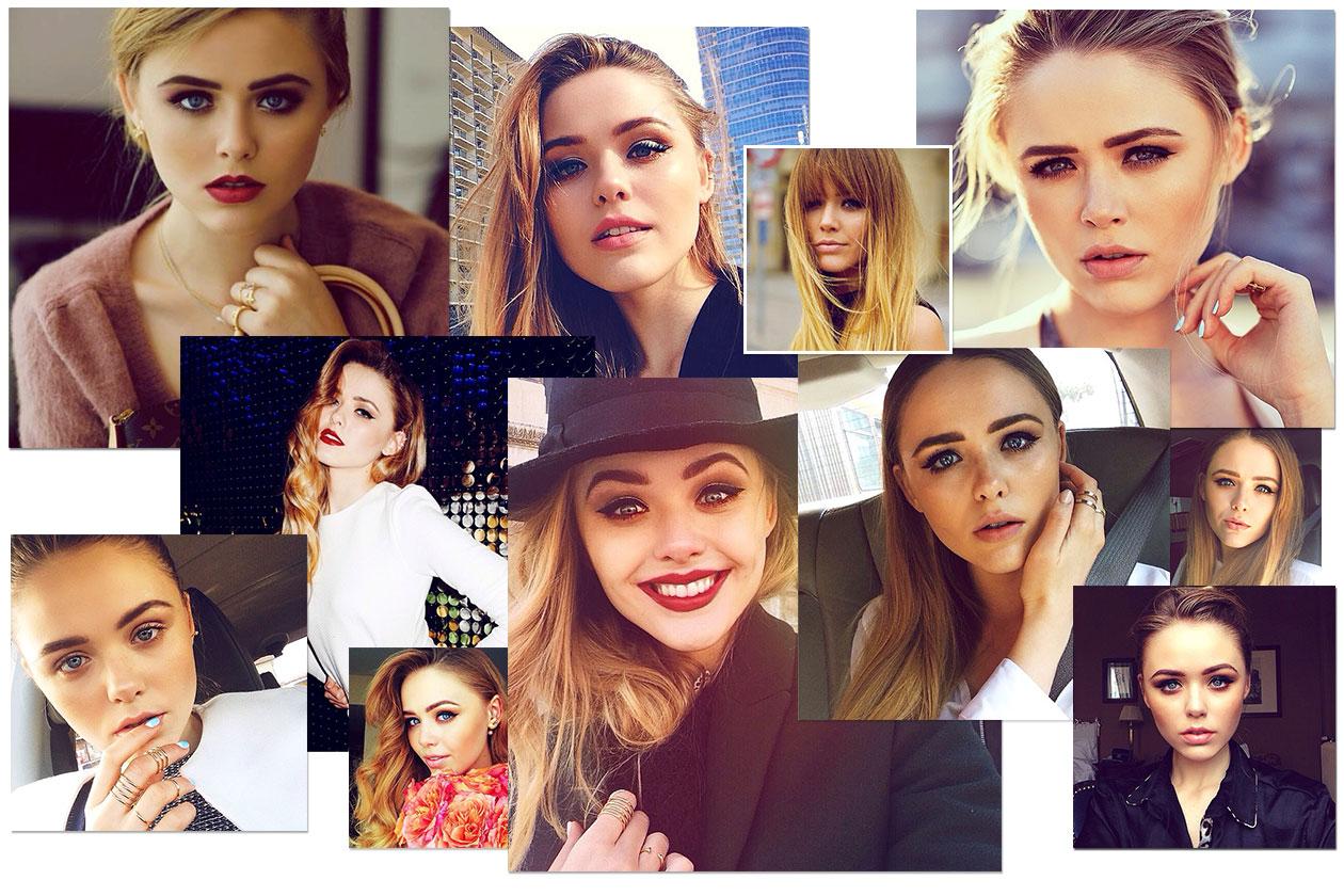 Kristina Bazan: blogger beauty icon con eyeliner, smokey eyes e rossetto rosso