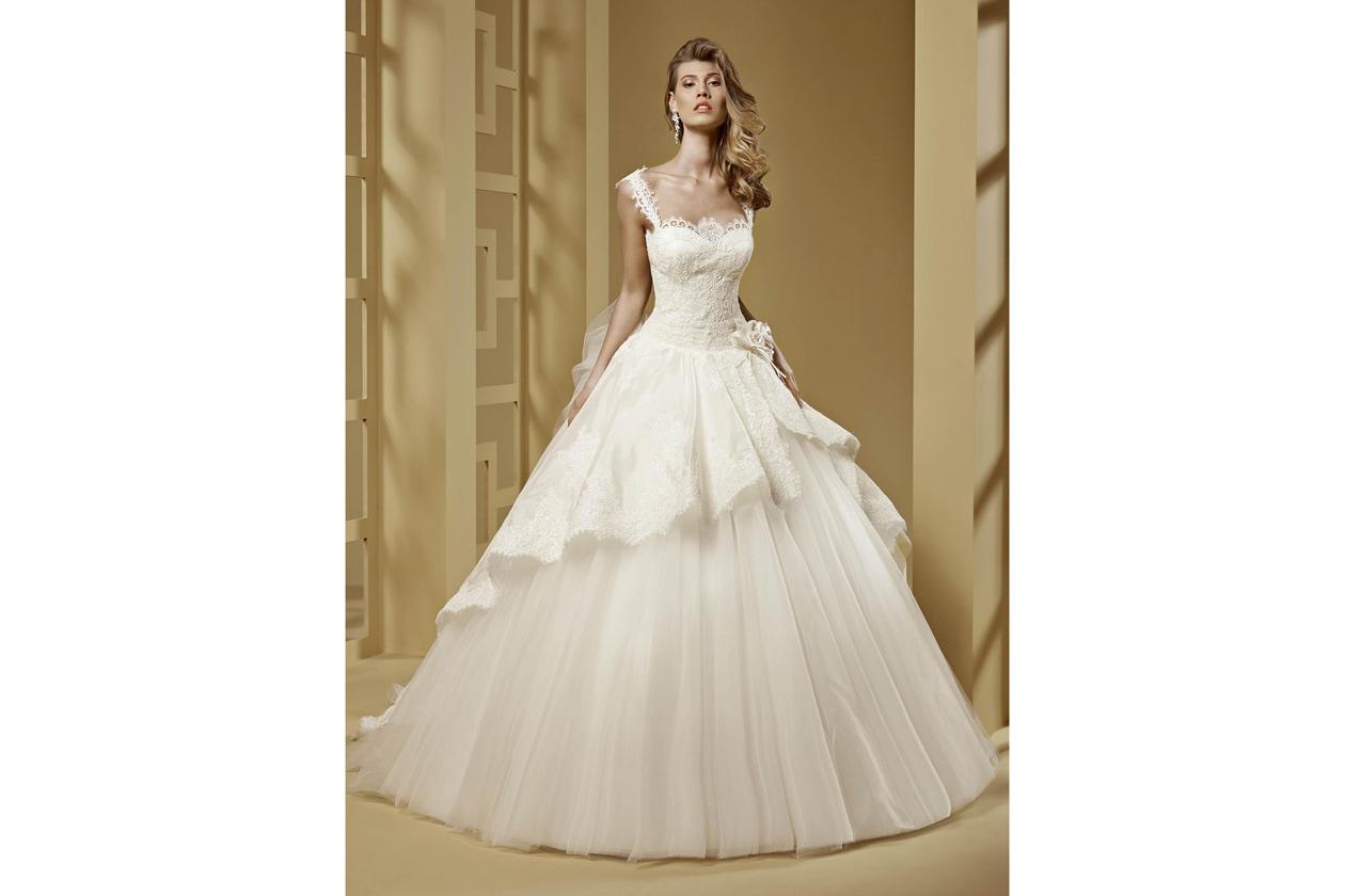 nicole spose ROAB15849IVPK Romance moda sposa 2015 608