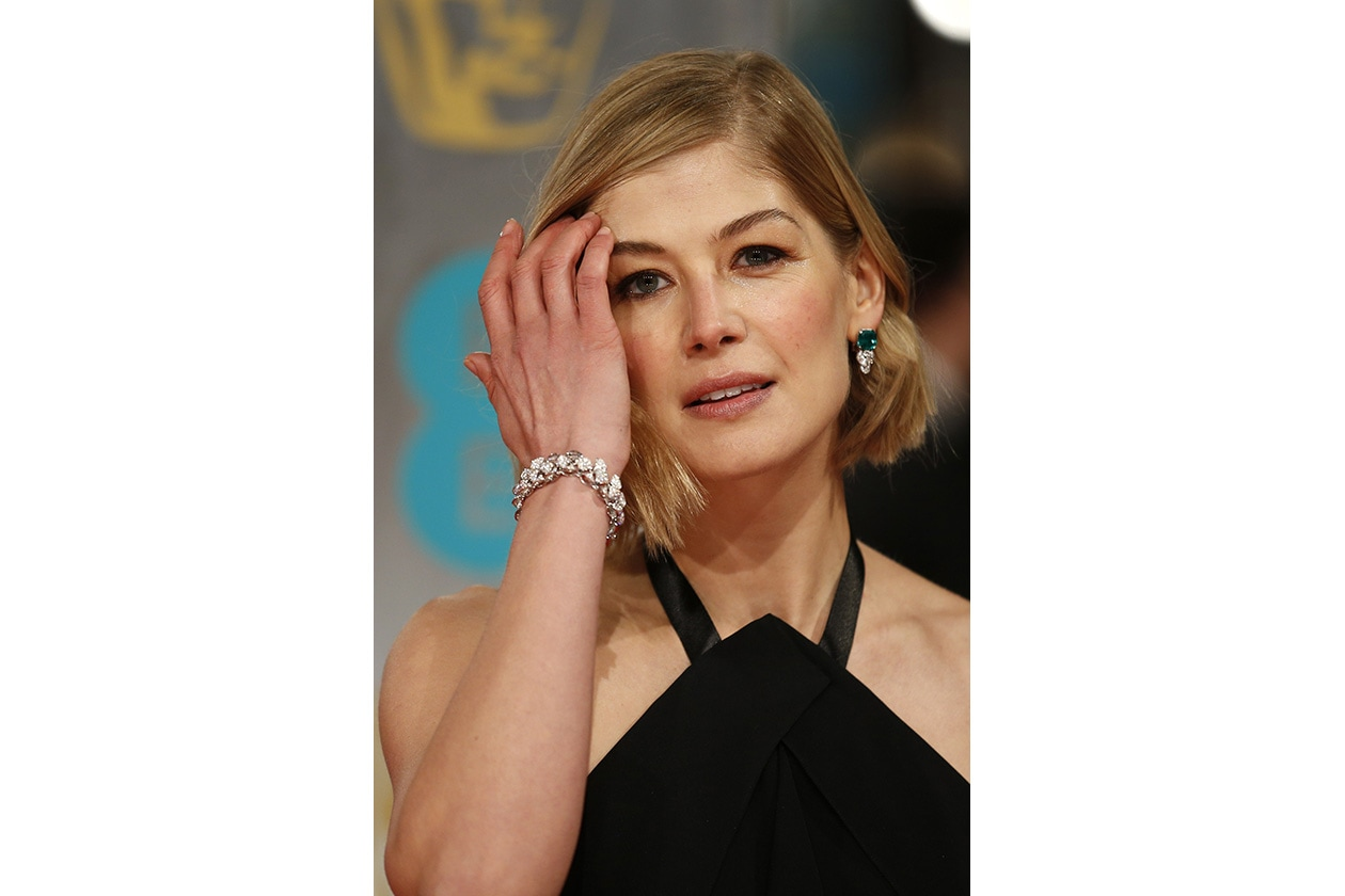 BAFTA BEAUTY LOOK: rosamunde pike