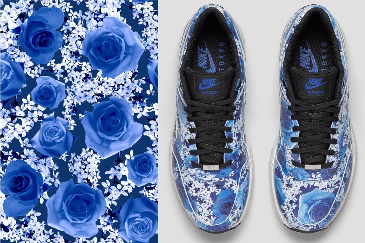 reputable site 01354 9cb6f tokyo Tokyo in blu con rose e fiori di ciliegio