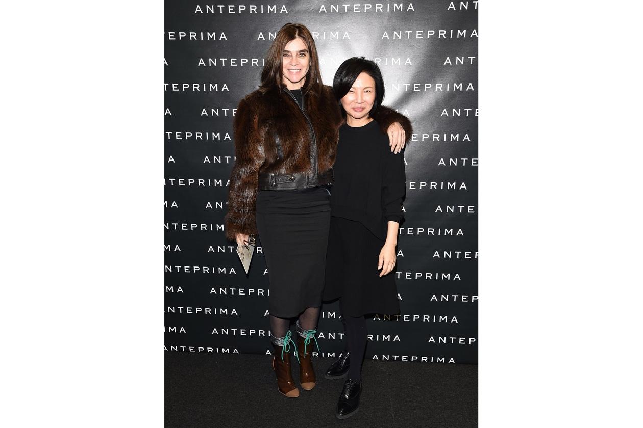 ANTEPRIMA fashion show FW 15 16 Carine Roitfeld Izumi Ogino (creative director Anteprima)