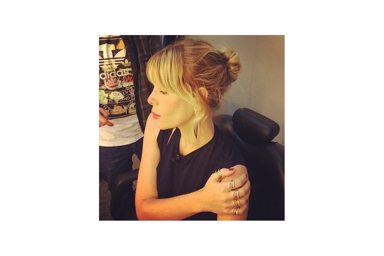 Alessia Marcuzzi capelli: messy bun