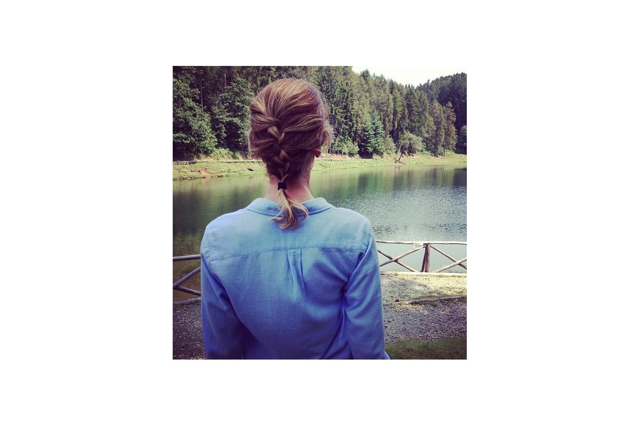 Alessia Marcuzzi capelli: treccia francese