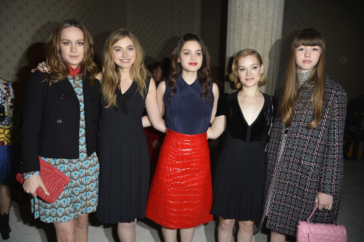 Brie Larson, Imogen Poots, Odeya Rush, Jane Levy and Mia Goth miu miu