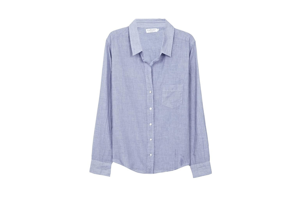 CAMICIA IN JEANS: VELVET BY GRAHAM AND SPENCER
