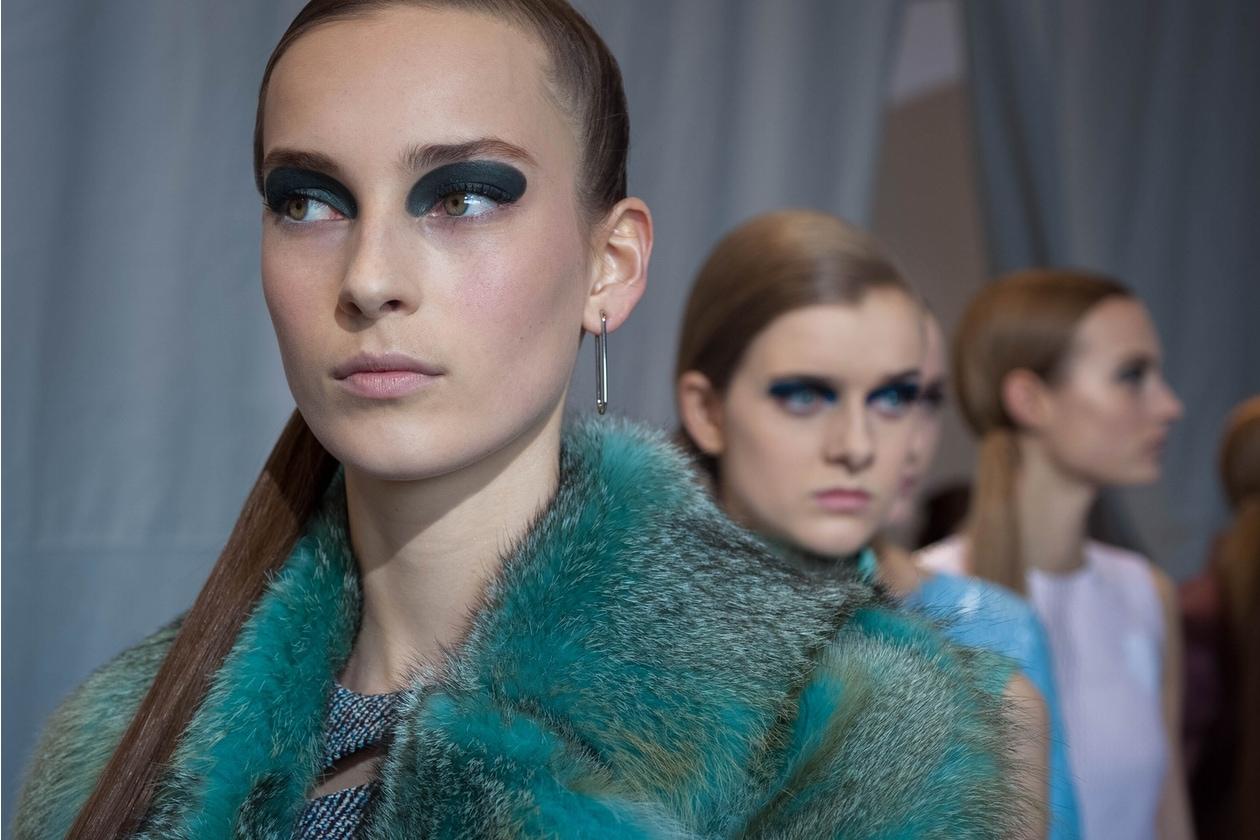 Dior Prêt-à-Porter A/I 2015-16: trucco occhi grafico