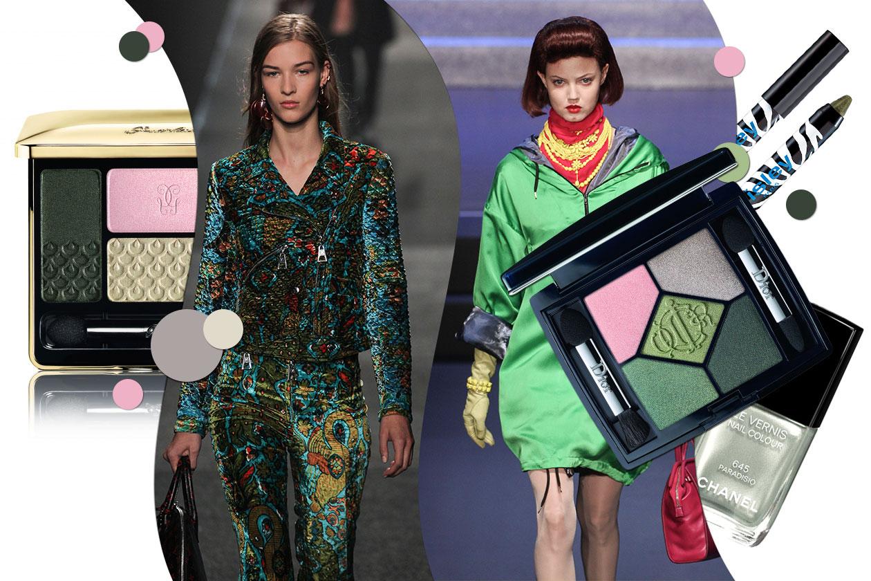 Il look verde ispirato ai prati parigini: il make up consigliato da Grazia.it