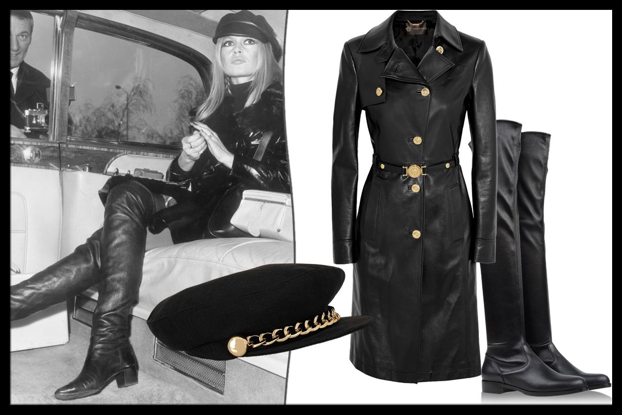 LOOK 3: total leather, dal cappello agli stivali