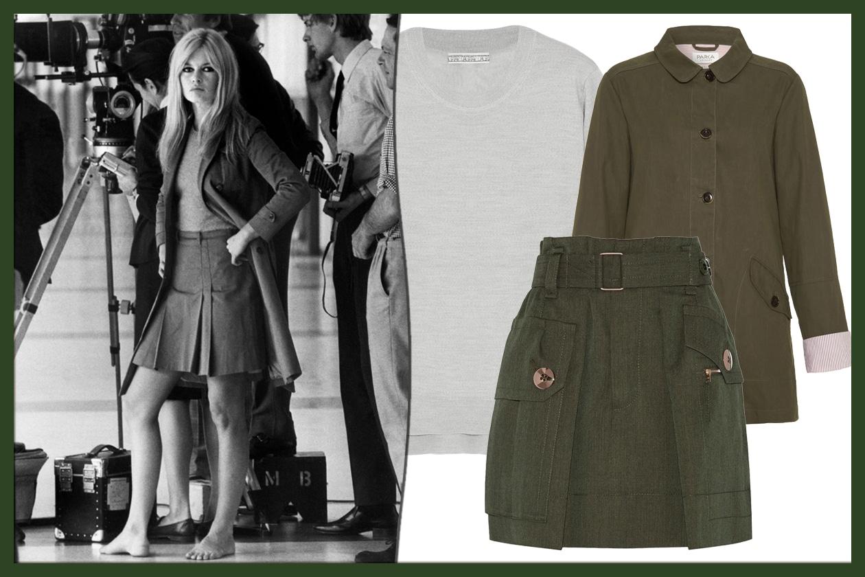 LOOK 7: retro-chic con cappotto dal colletto arrotondato e maxi borsa