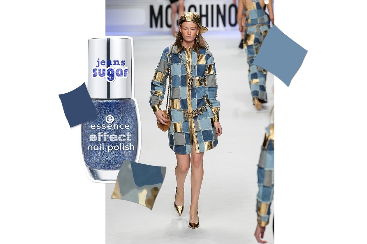 MANICURE e MATCHY DRESS: Denim Pop Couture