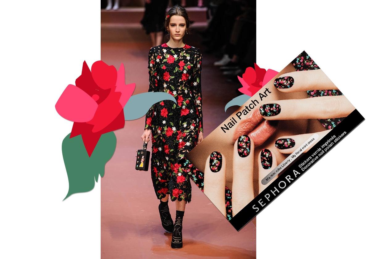 MANICURE e MATCHY DRESS: Floral Dress