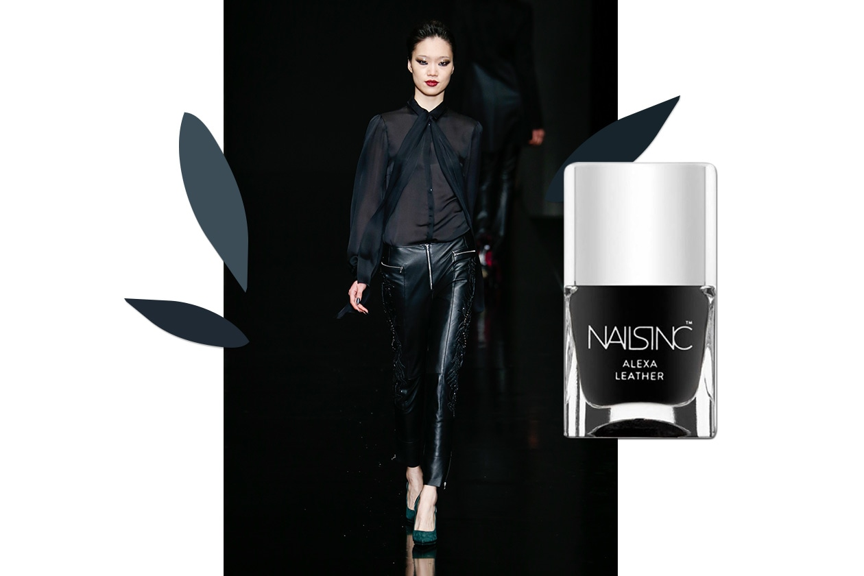 MANICURE e MATCHY DRESS: Leather polish