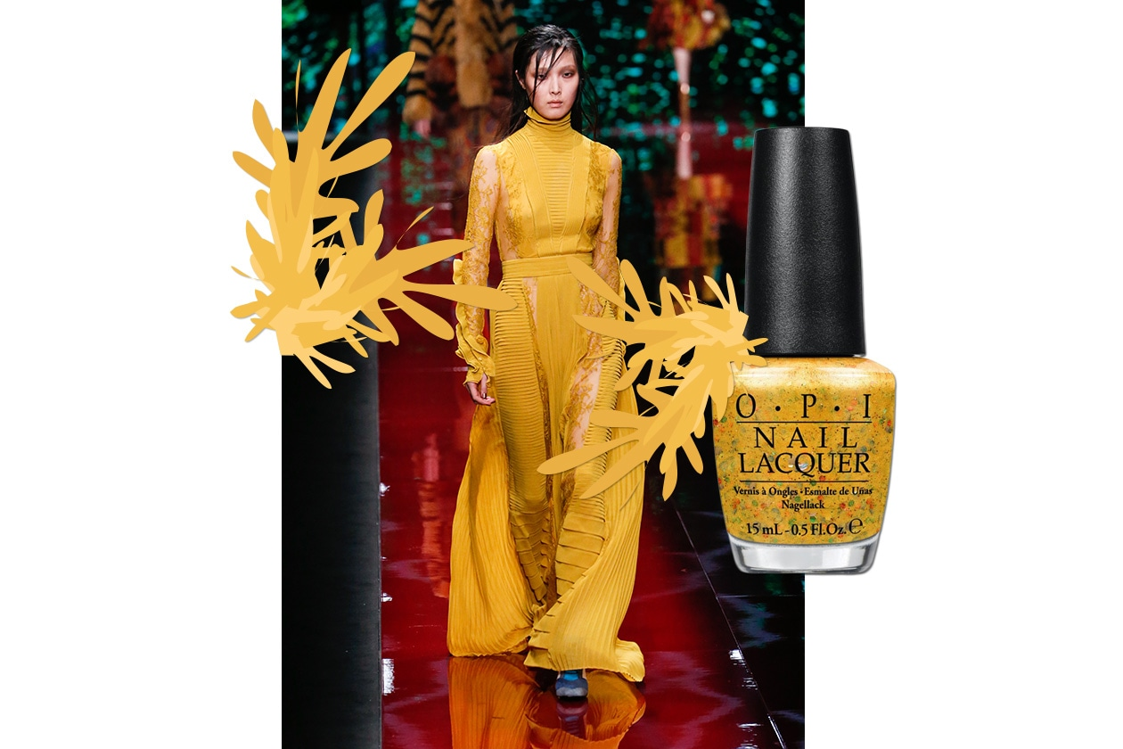 MANICURE e MATCHY DRESS: Pineapple Power