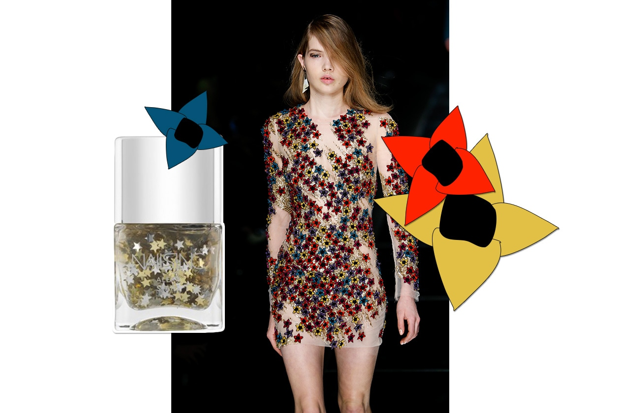 MANICURE e MATCHY DRESS: Star Flowers