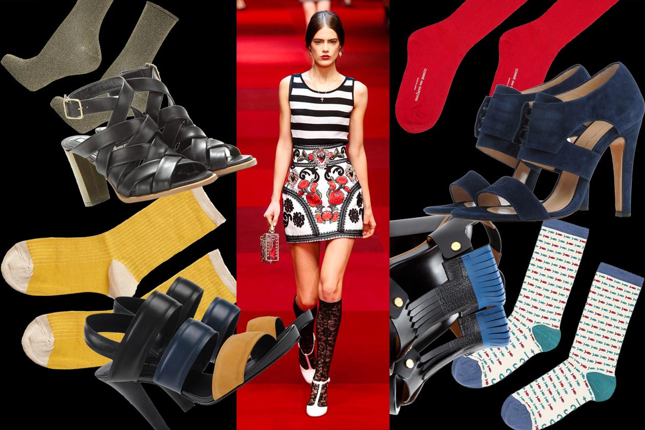 MIX&MATCH: sandals + socks
