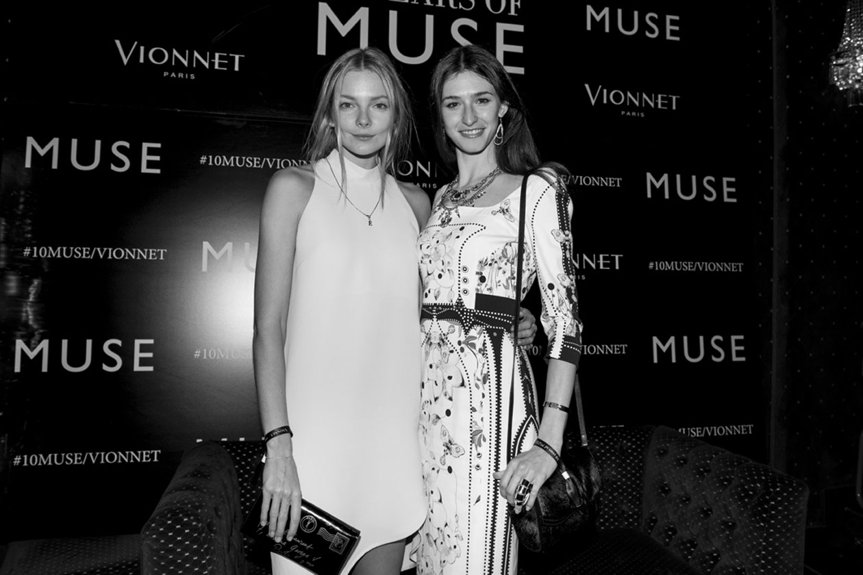 Muse 10th Anniversary Party Eniko Mihalik & friend