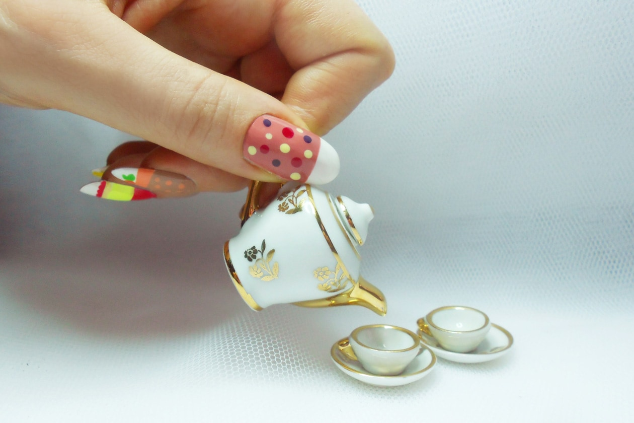 Nail Art Primavera 2015: 1. British Cakes – nail art