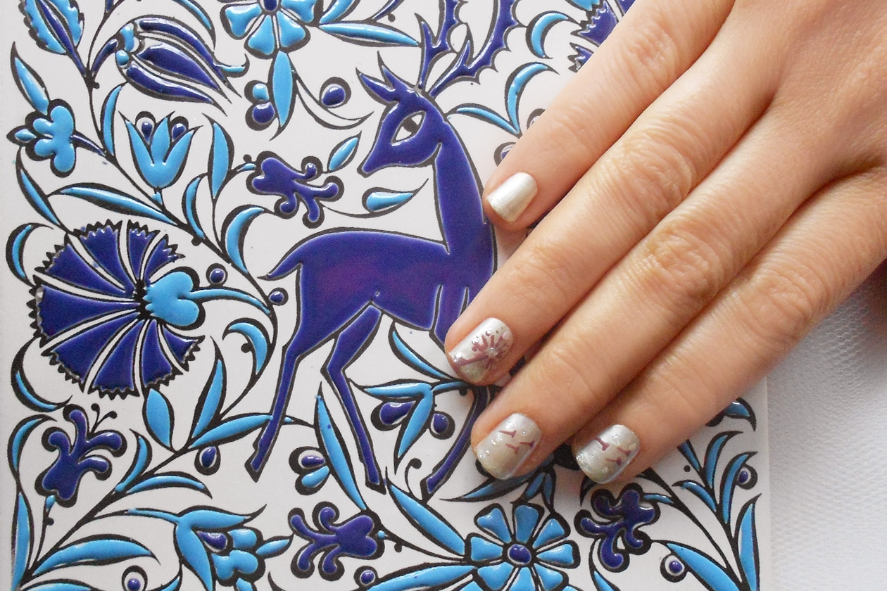Nail Art Primavera 2015: 2. Blown Away Dandelion – nail art