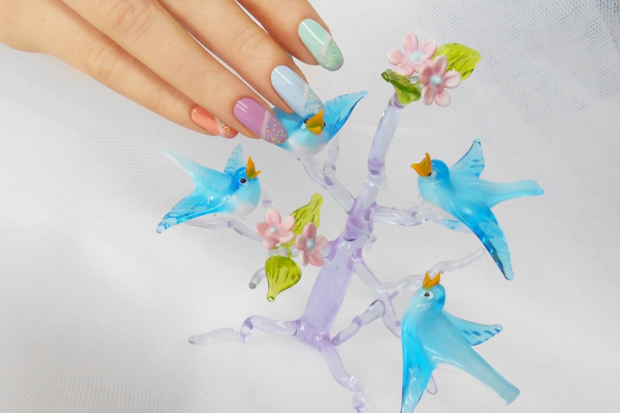 Nail Art Primavera 2015: 5. Pastel Sprinkles – nail art