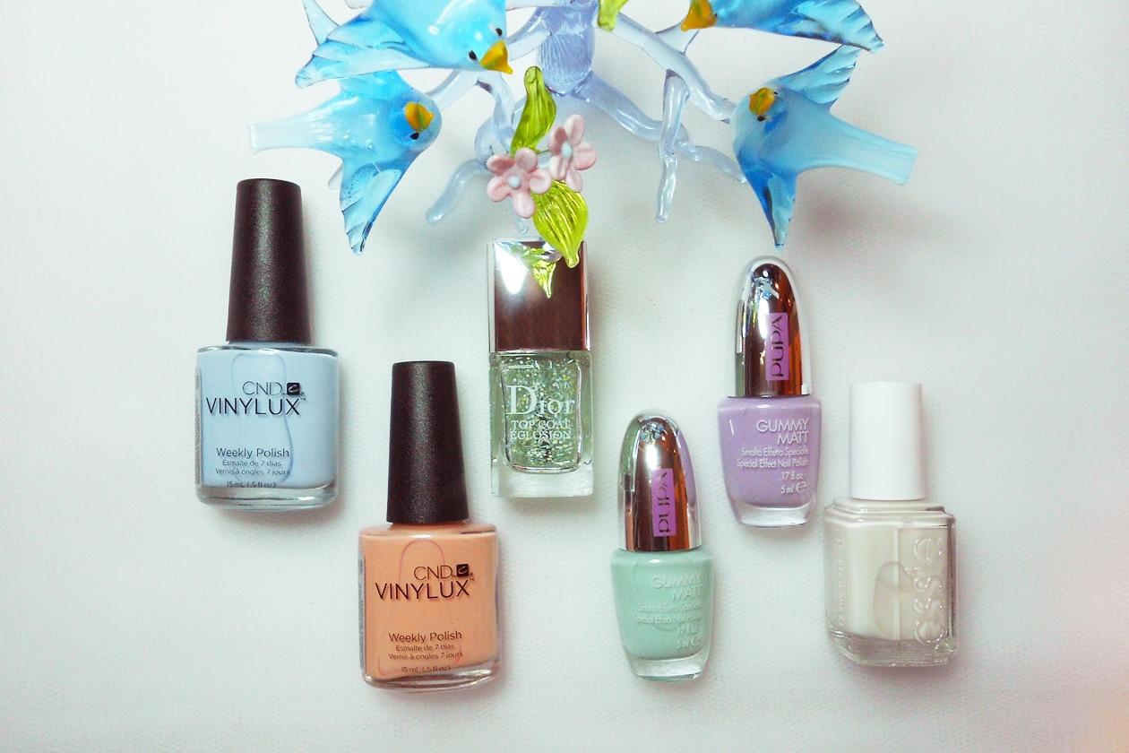 Nail Art Primavera 2015: 5. Pastel Sprinkles – smalti utilizzati
