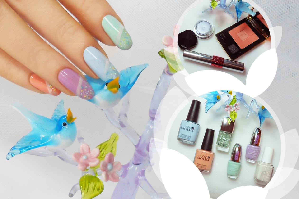 Nail Art Primavera 2015: 5. Pastel Sprinkles