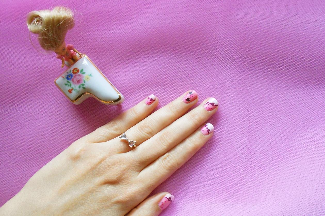 Nail Art Primavera 2015: 6. Madame Barbie – nail art