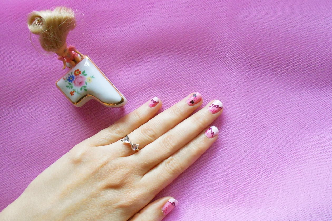 Nail Art Primavera 2015: 6. Madame Barbie – nail art