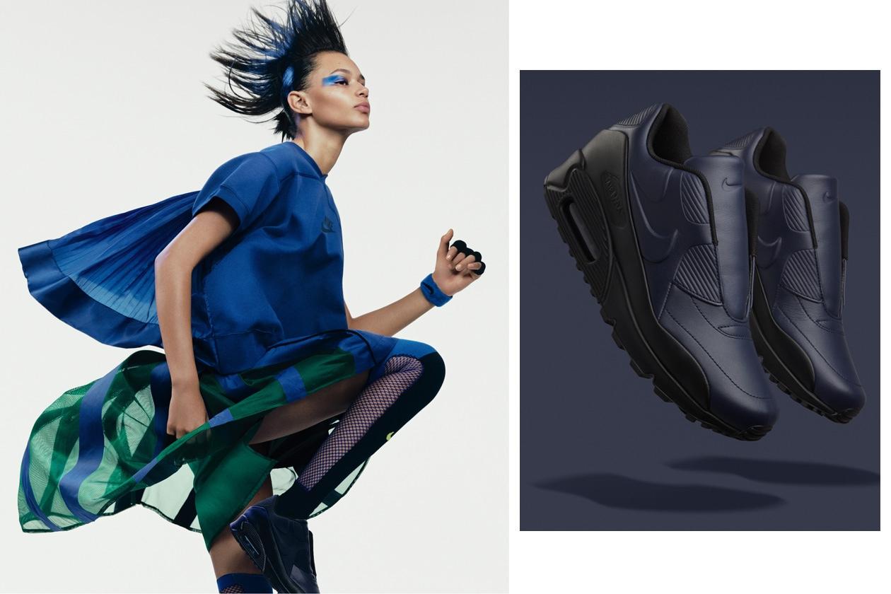 NikeLab x sacai Binx wearing Tech Fleece Crew and Sport Skirt 2 original