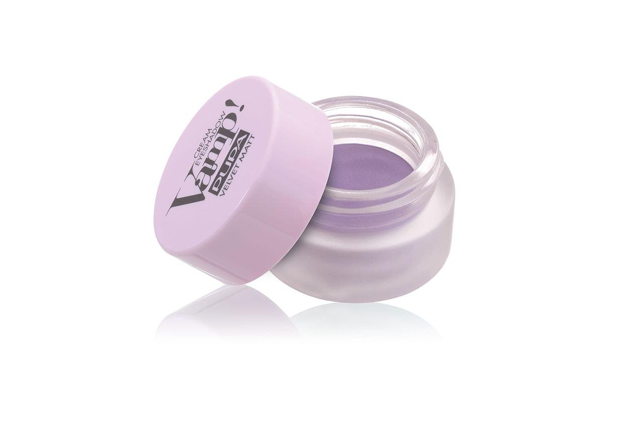 OMBRETTI IN CREMA: Sport Chic Vamp Cream Eyeshadow Velvet Matt 003 in Sporty Lilac di Pupa