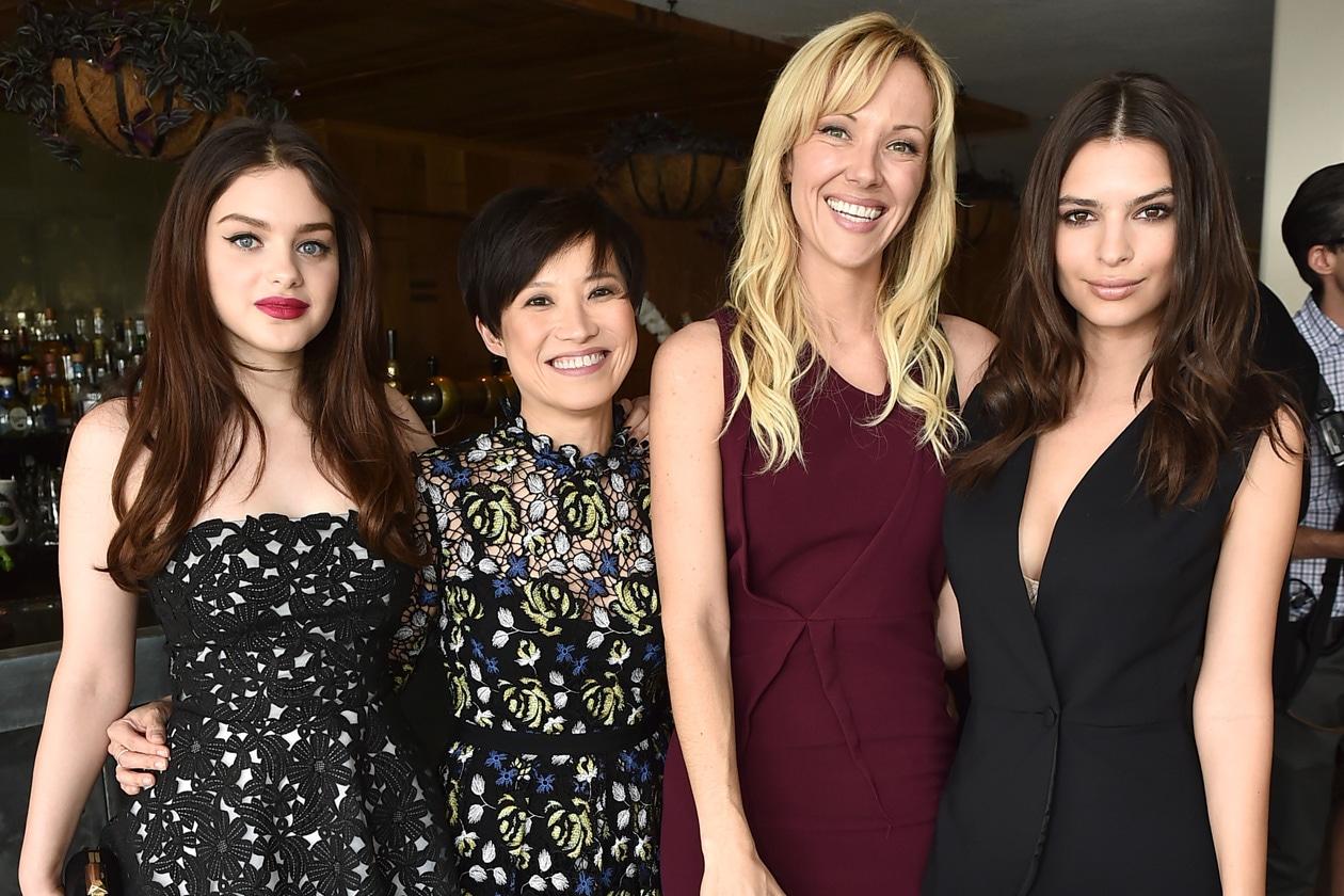Odeya Rush, Sandra Choi, Tara Swennen, Emily Ratajkowski attend the Jimmy Choo & THR Powerstylist Luncheon in LA