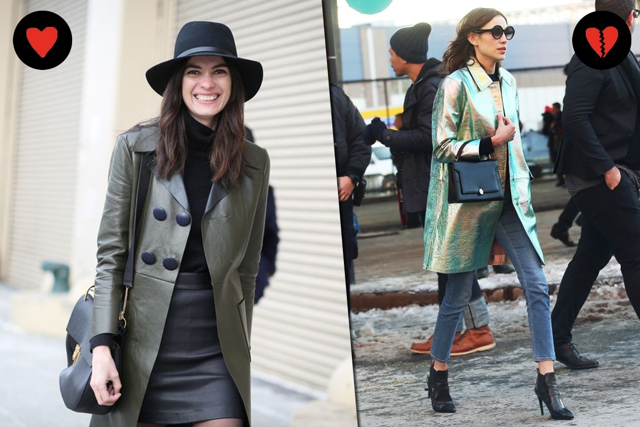 STREET STYLE: HOT LA GIACCA IN PELLE, NOT LA GIACCA CANGIANTE