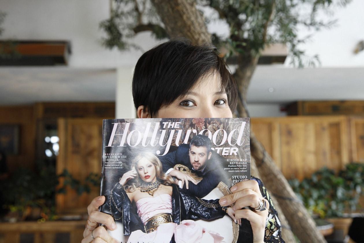 Sandra Choi attends the Jimmy Choo & THR Powerstylist Luncheon in LA