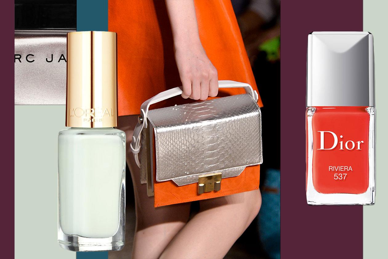 Smalti e borse color block: Gabriele Colangelo