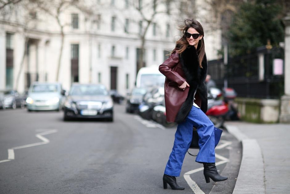 Street Style: capospalla in pelle e jeans