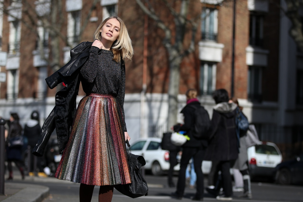 Street style trends: il lurex