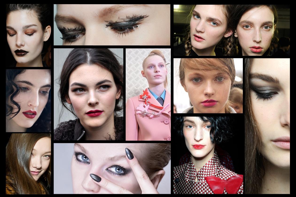 TENDENZE BEAUTY MFW A/I 2015-2016: scoprite i trend make up, capelli e unghie direttamente dai backstage delle sfilate