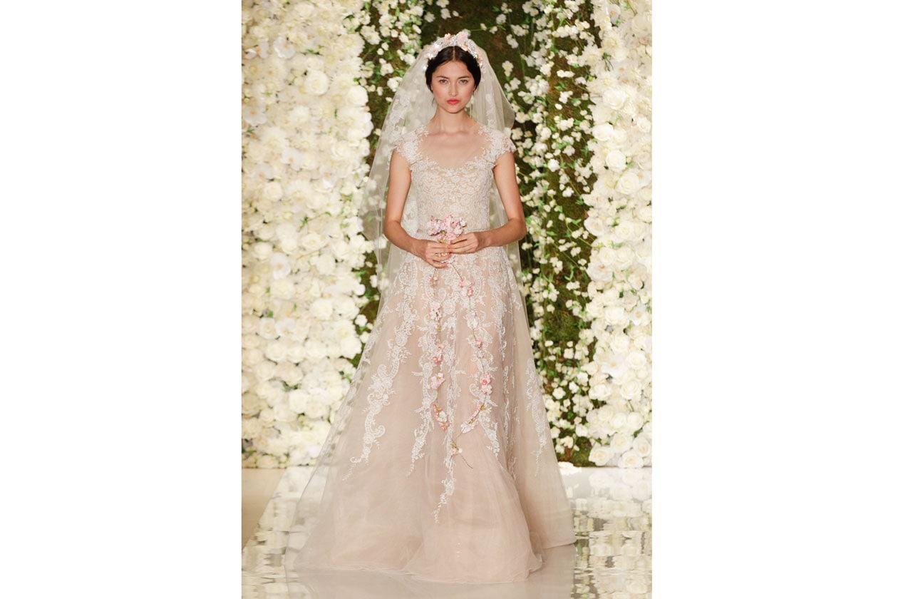 abiti da sposa colorati: REEM Acra
