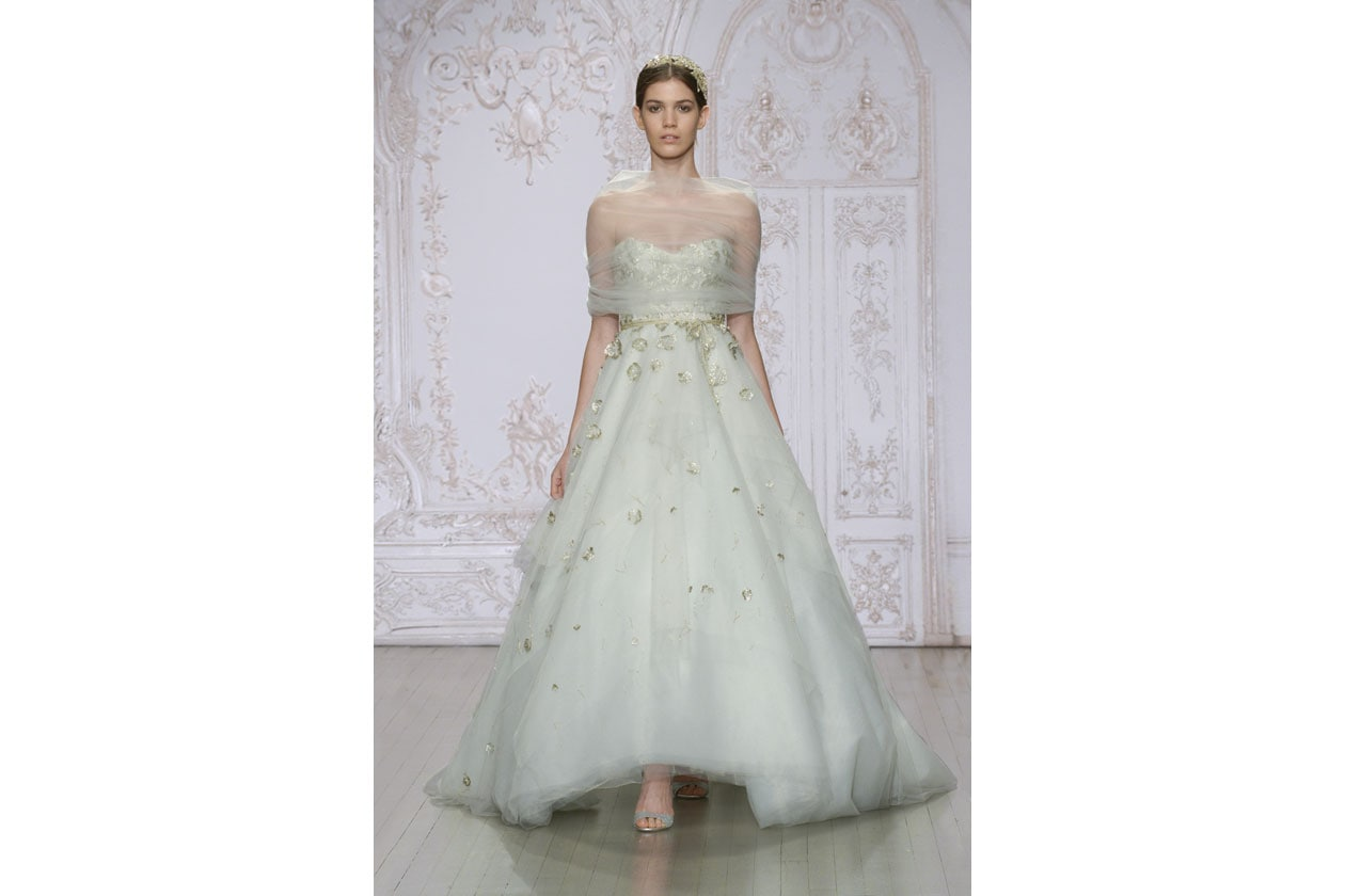 abiti da sposa colorati: monique luhllier