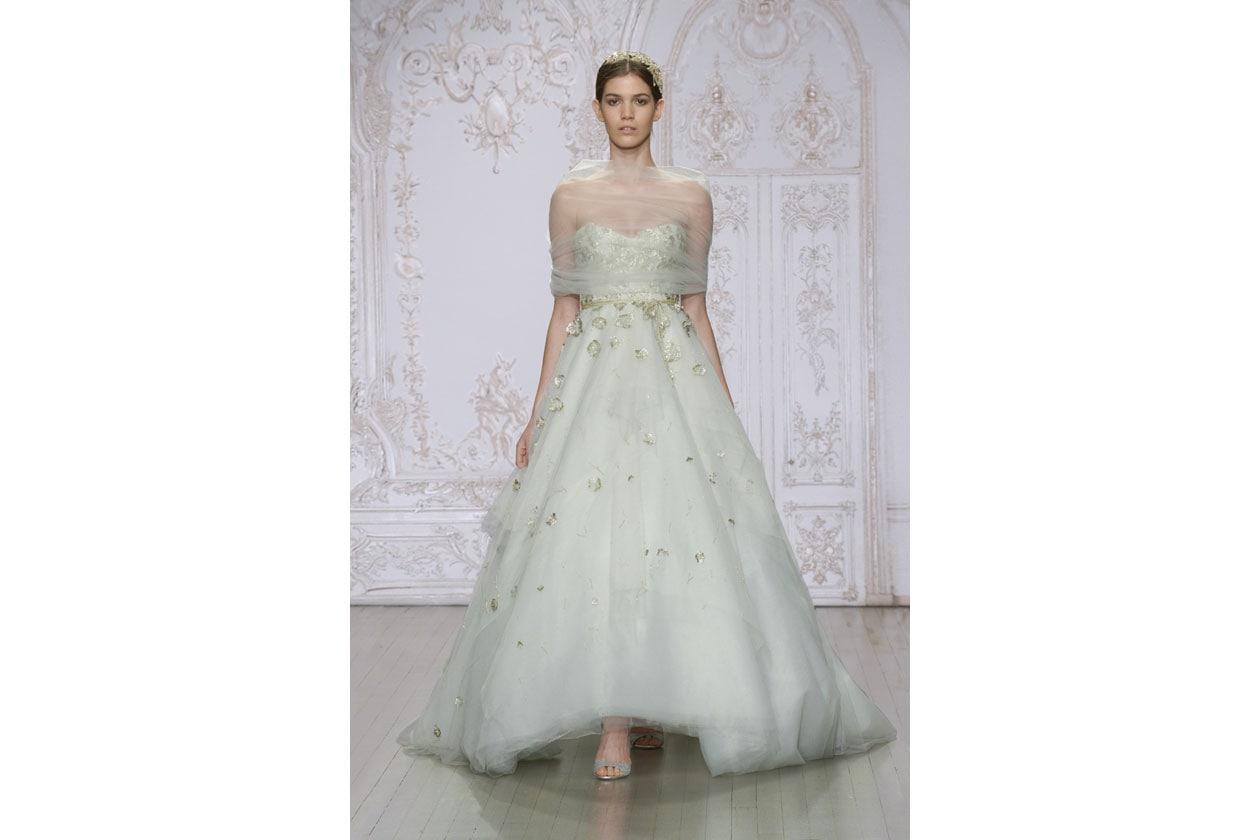 abiti da sposa colorati: monique luhllier