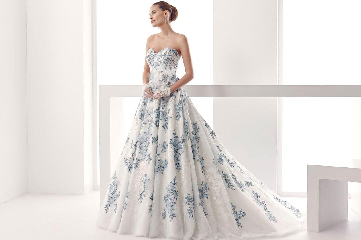 abiti da sposa colorati: nicole spose